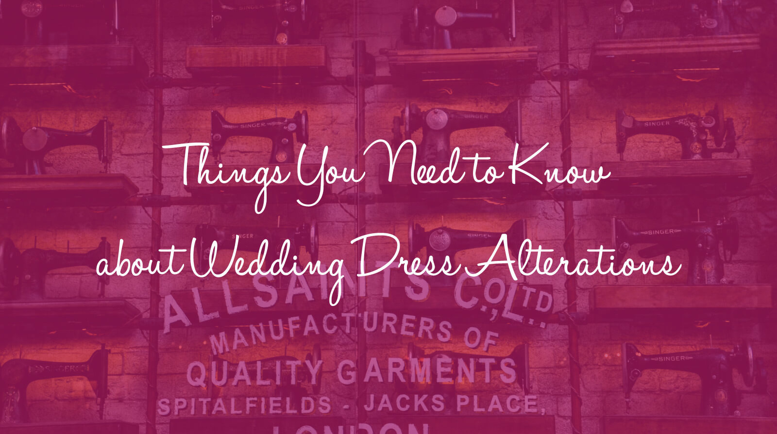 10 Things You Need to Know about Wedding Dress Alterations
