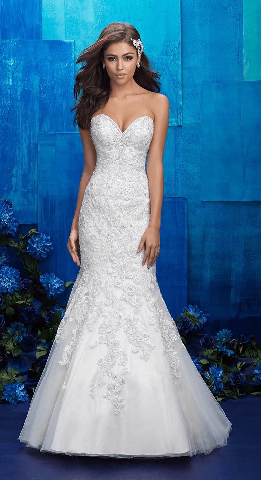 Clara allure bridals lace trumpet/mermaid