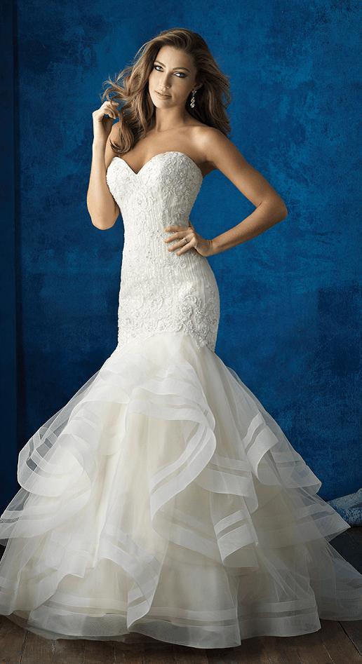 gemma allure bridals lace trumpet/mermaid