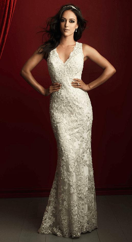 Kirstie allure bridals lace sheath