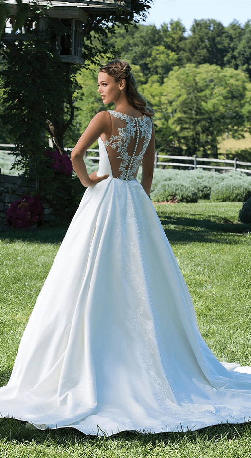 maura sincerity satin ballgown