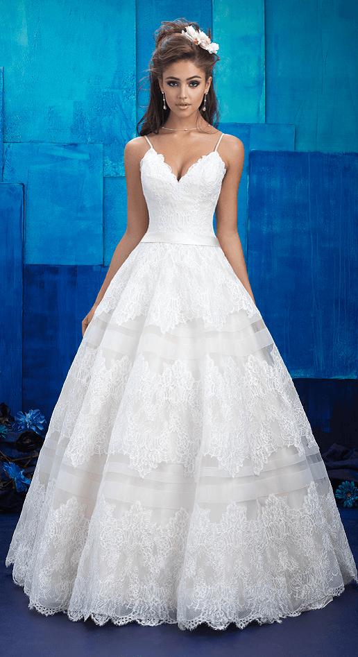 Pennie Allure Bridals lace ballgown