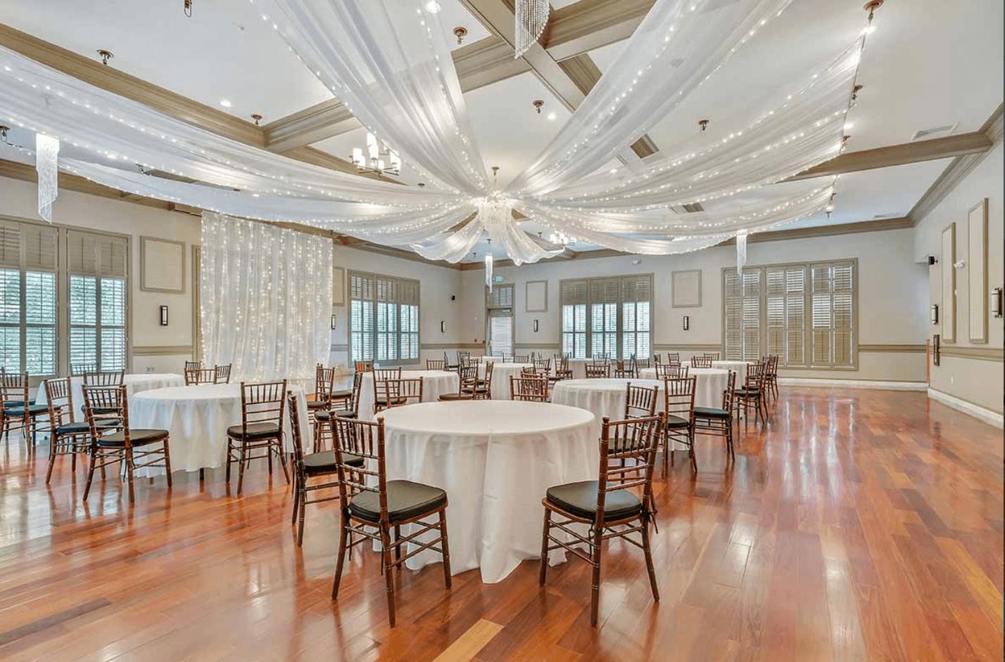 A wedding set up at Noah's Event Venue near Southfield, MI