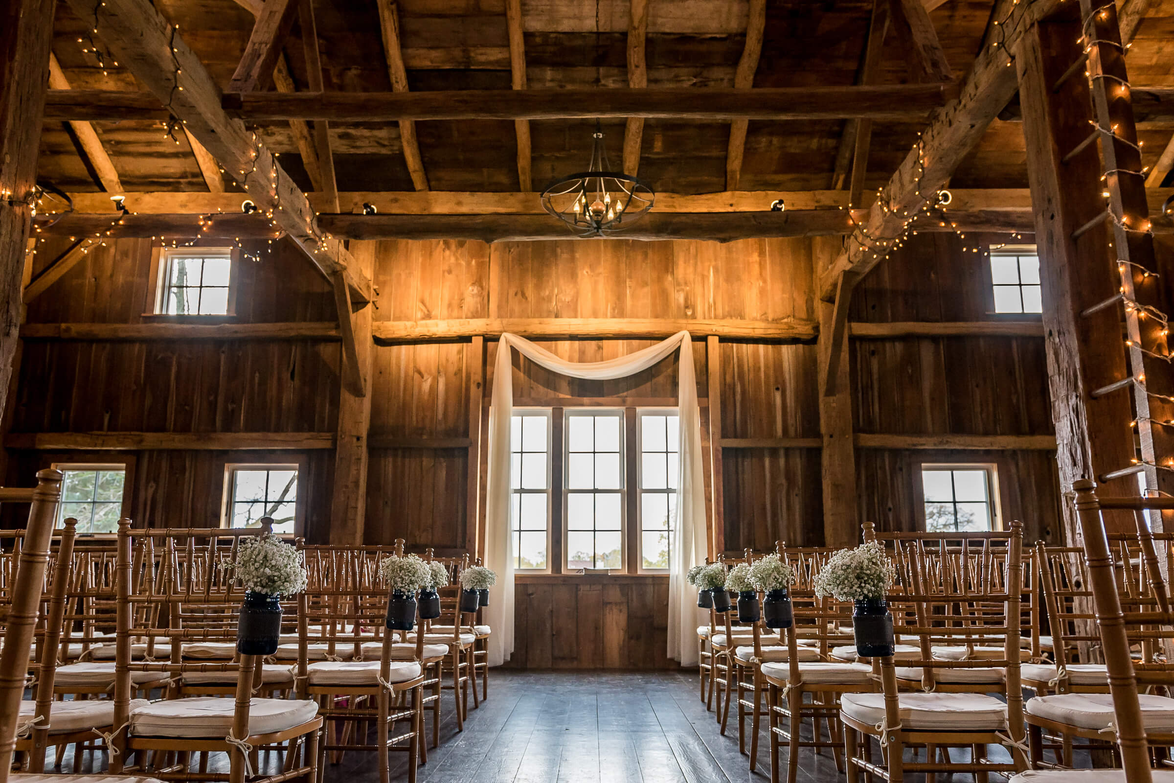 Zingerman's Cornman Farms set up as a wedding venue near Ann Arbor, MI