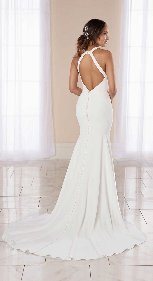 Brooklyn Stella York Crepe Sheath Wedding Gown