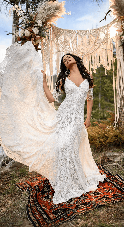 All Who Wander boho gown