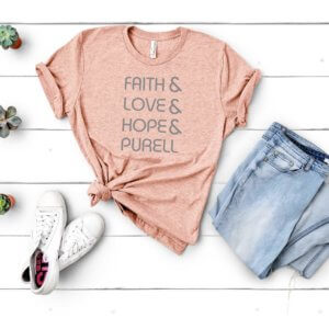 faith and love blush shirt