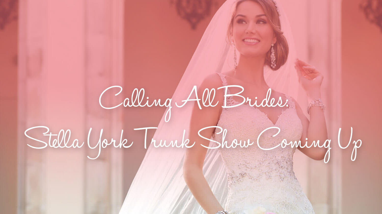 Calling All Brides: Stella York Trunk Show Coming Up