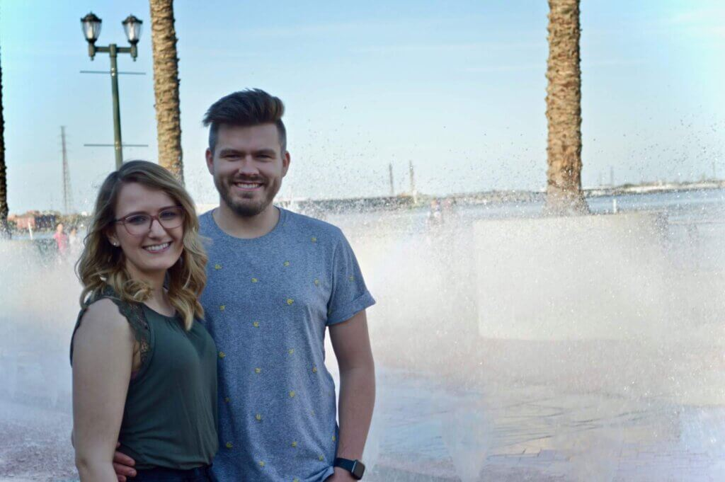 Tori and Jordan pictured together on vacation.