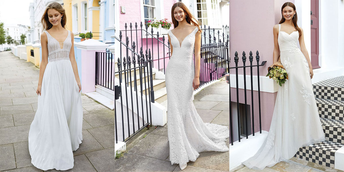 bridal gowns for elopement from Justin Alexander