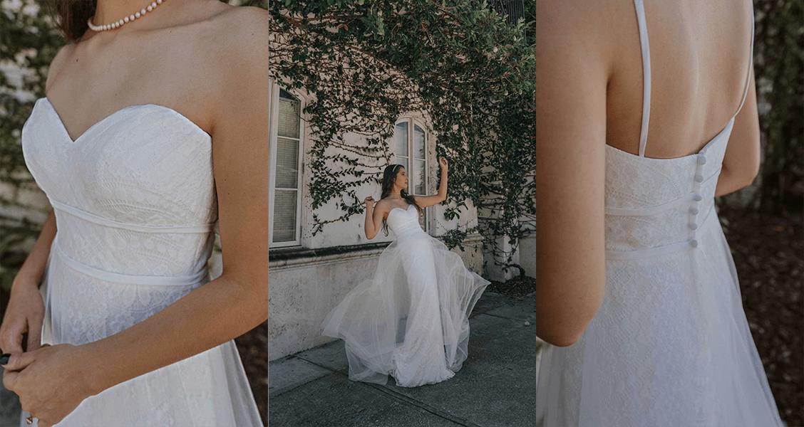 Stella York 7295 vintage gown with sweetheart neckline