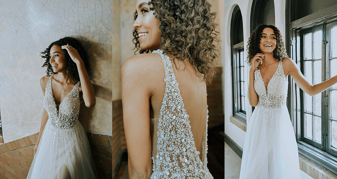 Stella York 7328 beaded glamor for the perfect beach wedding dress